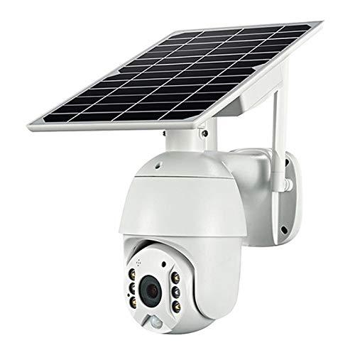 Monland Cámara de vigilancia al aire libre, batería solar 4G LTE con bajo consumo de energía, cámara PTZ 1080P impermeable, detección de movimiento PIR, cámara IP UE