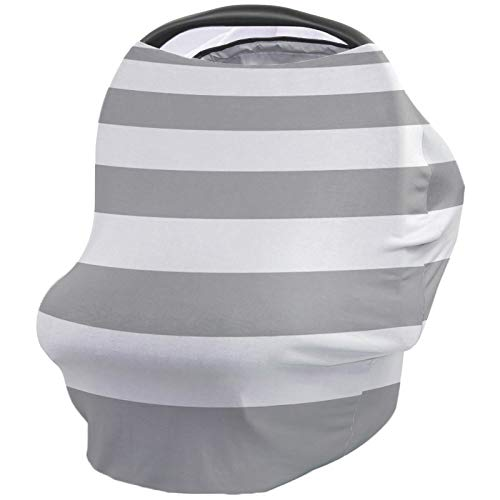 Check Out This Classic Nursing Cover for Baby Breastfeeding, Soft Breathable Stretchy Carseat Canopy...