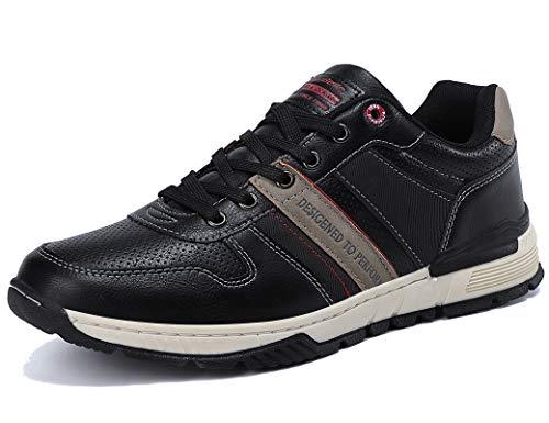 ARRIGO BELLO Zapatillas Hombre Zapatos de Casual Sneakers Vestir Deportivas Confort Jogging Transpirables Sneaker Talla 41-46(Negro, 46)