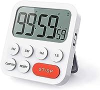 【3 in 1: Timer, Stoppuhr und Uhr】Der digitale Küchentimer von LIORQUE gilt als normal digitale Uhr mit 24-Stunden-Anzeige. Inzwischen ist er auch ein Countdown-Timer und eine Stoppuhr. Der maximale Timer-Wert beträgt 99 Stunden, 59 Minuten und 59 Sek...