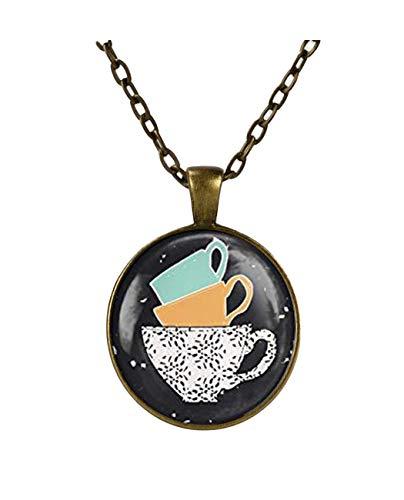 Kaffeeanhänger, Kaffeetassen-Stapel, Geschenke für sie, exquisite Ornamente, Kaffeeliebhaber.