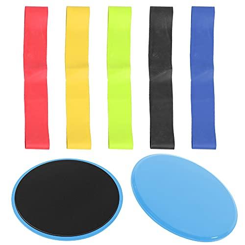 Emoshayoga Disco Deslizante Duradero Deportes(Blue Slide+Five-Piece Set+Cloth Bag)