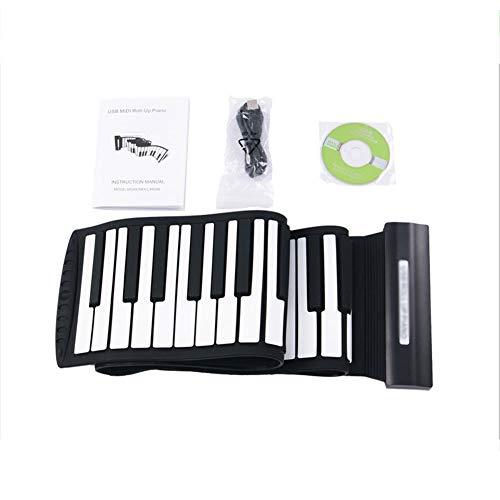Amazing Deal EXUVIATE USB 88 Keys Roll Up Electronic Piano Keyboard Silicone Flexible Portable Folda...