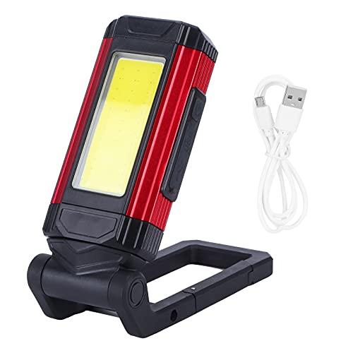 Nunafey Linterna LED, luz de inspección de presión de Calor Antideslizante a Prueba de Lluvia con Base magnética para Acampar para reparación de automóviles en el hogar