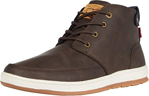 Levi's Mens Atwater Waxed UL NB Casual Sneaker Boot, Brown, 11 M