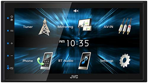 "JVC KW-M150BT Bluetooth Car Stereo Receiver with USB Port – 6.75"" Touchscreen Display - AM/FM Radio - MP3 Player Double DIN – 13-Band EQ (Black)"