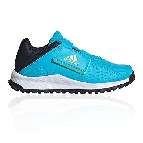 adidas Youngstar Strap Junior Kids Field Hockey Trainer Shoe Blue/Black-UK 1.5