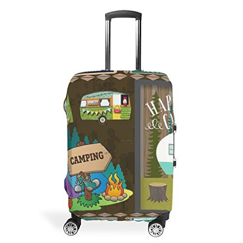 QXGIAO Prints Luggage Protectors Spandex Baggage Suitcase Covers white 19-21in