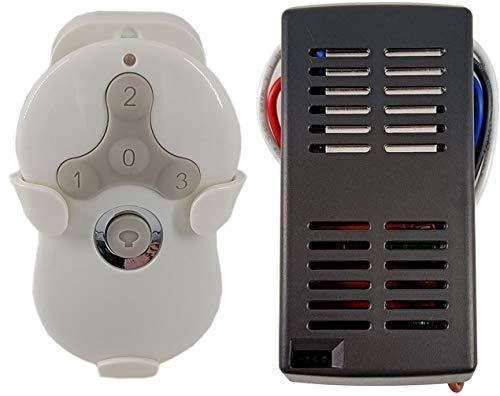 Kit de mando a distancia universal para ventilador de techo y receptor de repuesto de Hampton Bay Harbor Breeze Hunter, color blanco