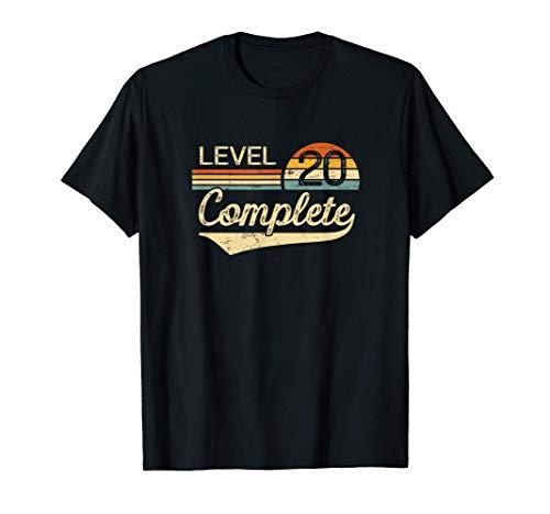 Level 20 Complete - 20 year Wedding Anniversary Gift Him Her T-Shirt