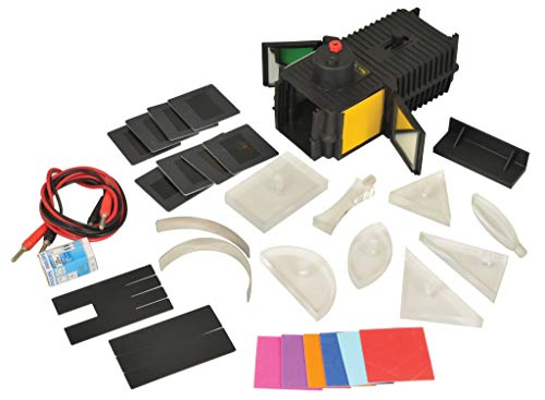 science classroom optics kits Eisco Labs Light Box - 27 Piece Optical Kit, Covering 18 Topics in Optics with Full Activity Guide