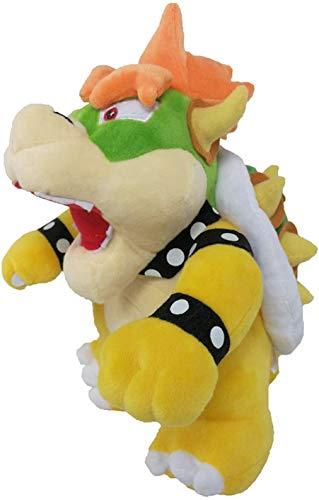 "Grneric Mario Plush Doll Koopa Plush 10"" Super Mario Bowser Doll Soft Stuffed Plush Pillow Toy (Yellow)"