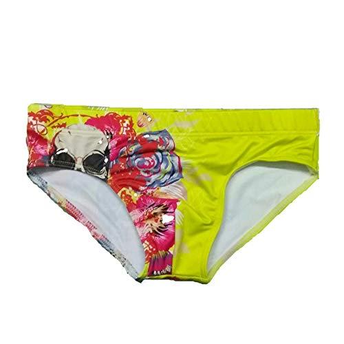 Short De Bain Taille Basse Triangle pour Hommes D'Été Shorts D'Embarras avec Corde À Cravate Adapté À La Compétition, À L'Entraînement, Aux Pantalons De Sports Nautiques