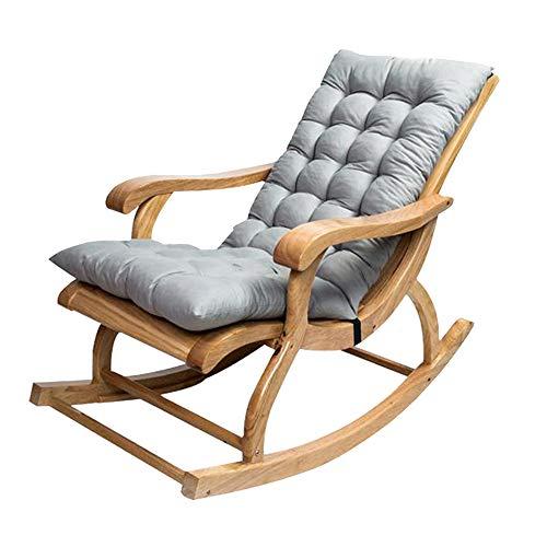 Hochlehner Auflage,120*50CM Loungekissen,100% Perlenbaumwollfüllung,Sitzkissen und Rückenkissen für Stühle,Schaukelstuhl Kissen (grau)