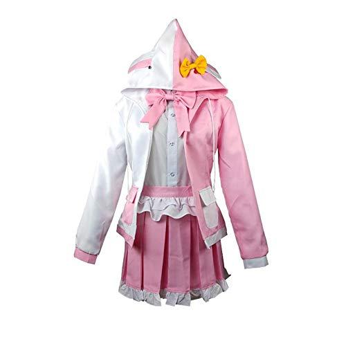 NiQiShangMao Anime Comic Danganronpa 2: Auf Wiedersehen Verzweiflung Cosplay Kostüme Monomi Cosplay Kostüm Uniformen Kleidung Anzug Kleider Damen Rosa Anzüge