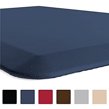 GORILLA GRIP Original 3/4  Premium Anti-Fatigue Comfort Mat, Phthalate Free, Ships Flat, Ergonomically Engineered, Extra Support and Thick, Kitchen and Office Standing Desk (32x20: Navy)