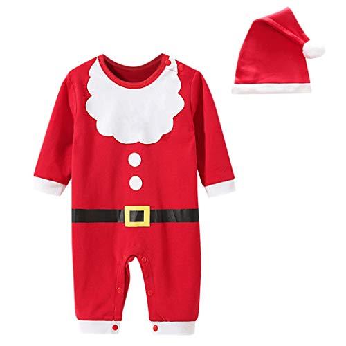 Kleidung Set, Kleinkind Kinder Baby Langarm Schneemann Print Tops Hosen Weihnachten Outfits Strampler mit Röckchen und Schal Weihnachtskostüm