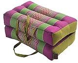 Zafuko Medium Foldable Meditation and Yoga Cushion - Purple/Green