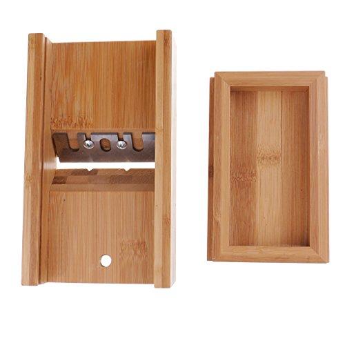Bonarty Molde de Jabón de Bambú Natural para Pan, Biselador, Cepillo para Platos, Caja, Herramienta para Manualidades, 19x11x4,8 Cm