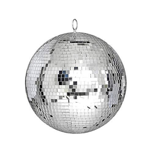 Sunnyflowk Großen Spiegelglas-Disco-Kugel DJ Tanz Zuhause-Party-Bands im Club Bühnenbeleuchtung Durable Disco-Kugel-Licht (Silber)
