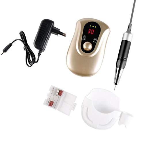 Ponceuse à Ongles Lime à ongles électrique portable machine rechargeable, 30000RPM acrylique Gel Nail Grinder Manucure Pédicure Machine Tool Set