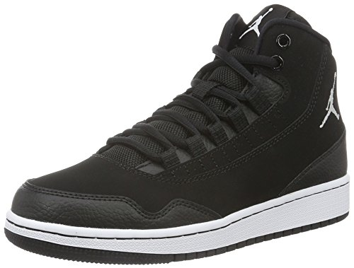 Nike Unisex-Kinder Jordan Executive (GS) Low-Top, Schwarz (011 Black/White-White), 40 EU