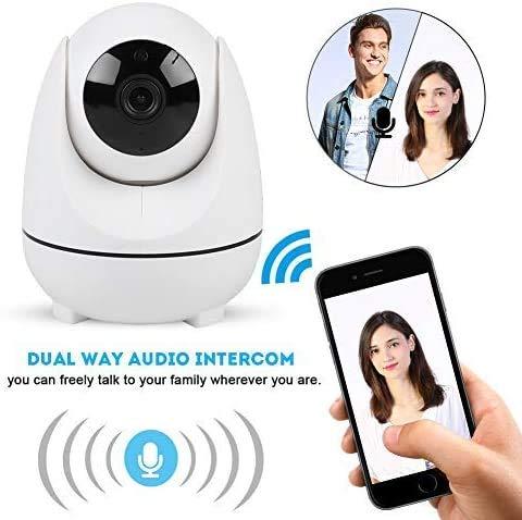 Kamera Überwachungskamera, WLAN IP Kamera, HD WiFi Überwachungskamera, mit Nachtsicht High Definition 1080P WiFi Auto Tracking Bewegungsüberwachungskamera Zwei-Wege-Audio