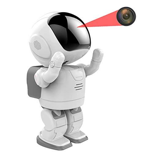 Oculta Inalámbrica Cámara Seguridad, Inteligente Robot WiFi Cámara Cámara Seguridad Interior con El Sistema Visión Nocturna Detección Movimiento Seguridad Casera, 1080P,128g