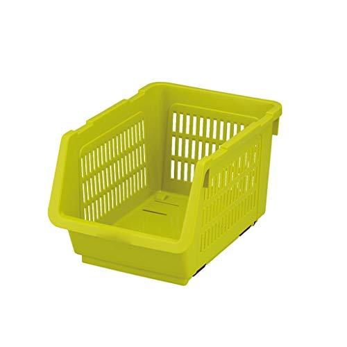 Panier de Rangement Cuisine en Plastique sur Le Dessus de Table Panier de Bain Design Creux Design à Large Bouche Jaune Jaune 2 Beige ZHJING (Color : Yellow)