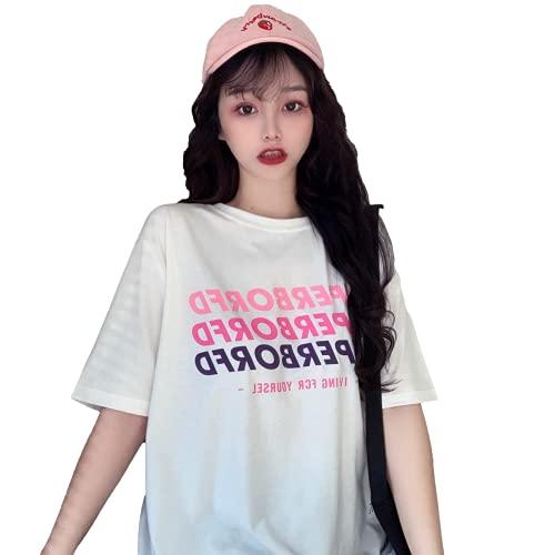 韓国 レディース tシャツ 韓国 tシャツ 韓国 服 レディース 半袖 レディース 韓国 韓国 レディース tシャツ 韓国ファッシ (白い)