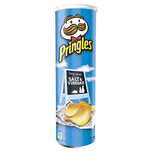 Pringles Patatas de sal y vinagre de 190 gramos (paquete de 6)