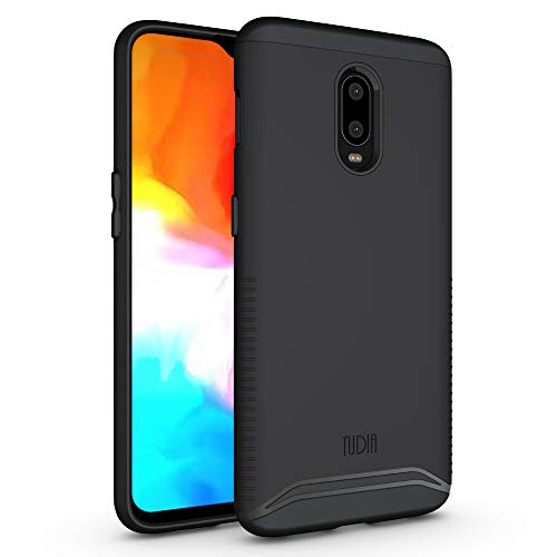 TUDIA Rugged Drop Protection Merge Series Designed for OnePlus 6T Case, Heavy Duty Slim Matte Protective Phone Case Cover for OnePlus 6T (Matte Black)