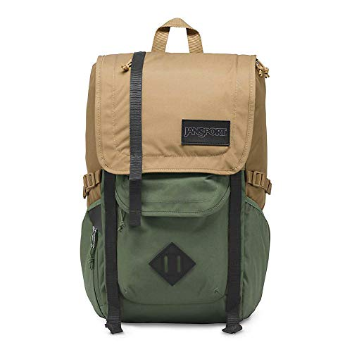 JanSport Hatchet Travel Backpack - 15 Inch Laptop Bag Designed for Urban Exploration, Field Tan/Muted Green