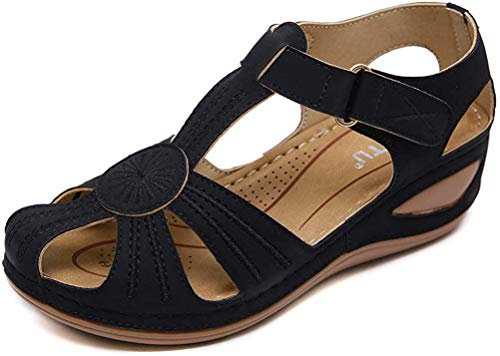 Dames sandalen Girls Comfortabele Hollow ronde neus Soft Sandals, Summer Wedge Platform Wipmolen Toe Thongs Schoenen