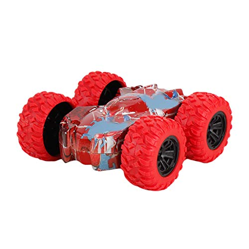 Most Popular Inertia-Mingbai Double Side Stunt Graffiti Car Off Road Model Car Vehicle Kids Toy Gift Children's Toy Racing Toy (Blue/Orange/Red/Yellow) (Red)