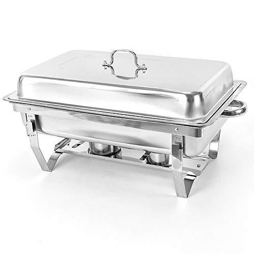 Calentador de alimentos de acero inoxidable de 9L Bandeja de calor Buffet Chafing Dish