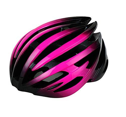 lhmlyl Ladies Cycle Helmets Mens Adults MTB Downhill Cycling Helmet MTB Road Mountain Bike Bicycle Ultralight-Pink_blk