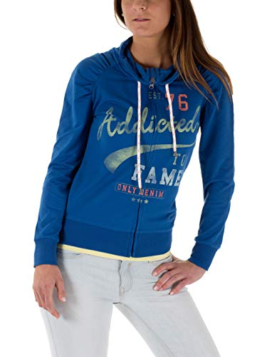 ONLY Damen Sweatjacken Sabina Born/ADD Highneck Sweat, Olympian Blue/Addicted, XS, Olympian Blue/Addicted, XS