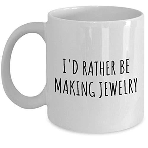 N\A Lustiger Juwelier-Becher - Schmuck-Hersteller-Geschenk - ich würde eher Schmuck Machen