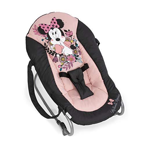 Hauck Babywippe Rocky von Disney, Schaukelfunktion, verstellbare Rückenlehne, Sicherheitsgurt und Tragegriffe, ab Geburt bis 9 kg verwendbar, kippsicher und tragbar, Rosa