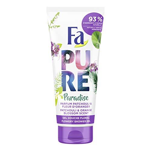 Fa - Gel Douche Corps - Pure Paradise - Parfum Patchouli & Fleur d'Oranger - Formule de pH neutre pour la peau - Testé sous contrôle dermatologique - Bouteille de 200 ml