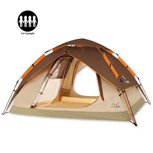 WGXY Pop-up campingtent, 3-4 personen, waterdicht, canopy, uv-rugzak, draagbaar