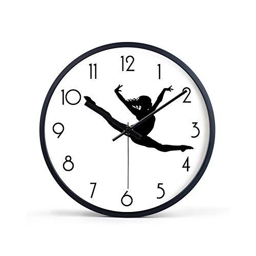 XMBT Ticking Batteriebetriebene Wanduhr-Wanduhr Klassisches Design Pendel Antike Retro Nicht Ticking Quarz Uhr Uhren Klassisches Dekor Vintage Wanduhr,Installationsize:40cm