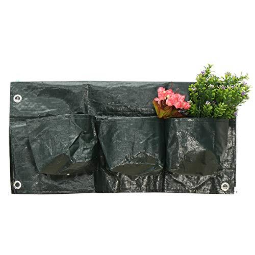 MJJEsports 6 Zakken Thuis Tuin Balkon Plant Tassen Opknoping Bloem Pot PE Planten Groei Tas