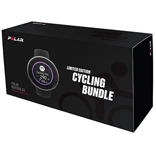 Polar Vantage V2 HR Premium-Multisportuhr - Limited Cycling Bundle inkl. H10 Herzfrequenzsensor, Radhalterung, Satteltasche