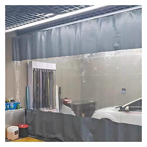 GZHENH Cortina De Vinilo Al Aire Libre con Panel De Lona Transparente con Ojales A Prueba De Herrumbre Usado para Tienda 4S División De Área Pérgola, 19 Tamaños (Color : Clear+Grey, Size : 7.5x3m)