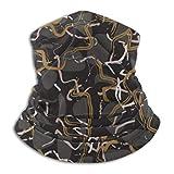 Wfispiy Sport Bandana Marmor Stein schwarz und Gold Streifen Magic Headwear Tube Neck Gaiter Gesicht Bandana Maske