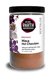Mixture of Peruvian cacao powder, banana flakes, Lucama and maca Tasty, smooth, creamy and thick hot chocolate Tastes good and is packed with nutrition Easy to use, just add milk