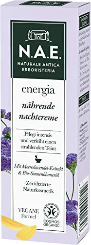 N.A.E. Naturale Antica Erboristeria energia nährende Nachtcreme, COSMOS Organic zertifiziert & vegane Formel, 1er Pack (1 x 50 ml)