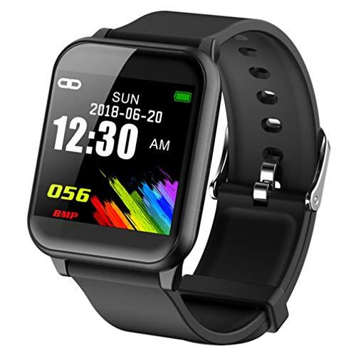 GMN Reloj de Pantalla a Color Z02 Pulsera de monitorización del sueño del Ritmo cardíaco en Tiempo Real Negro